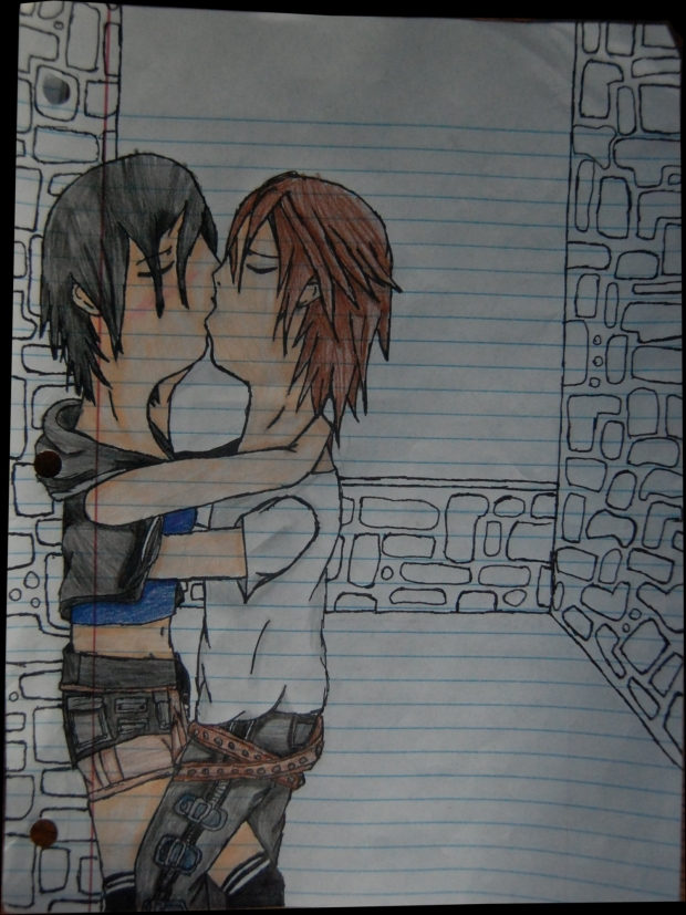 Kissing-Yuffie X Leon