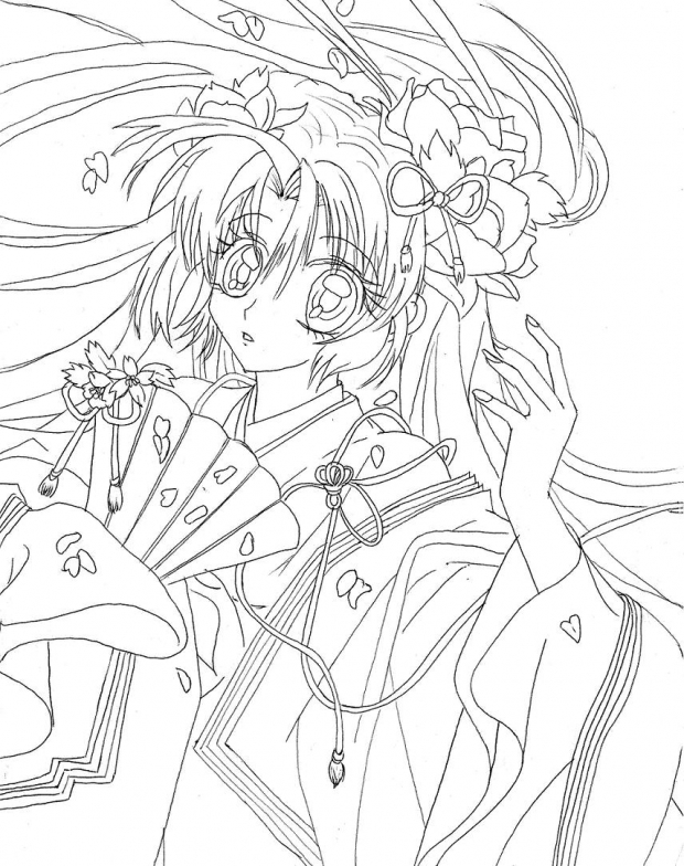 Princess Sakura (line art only)