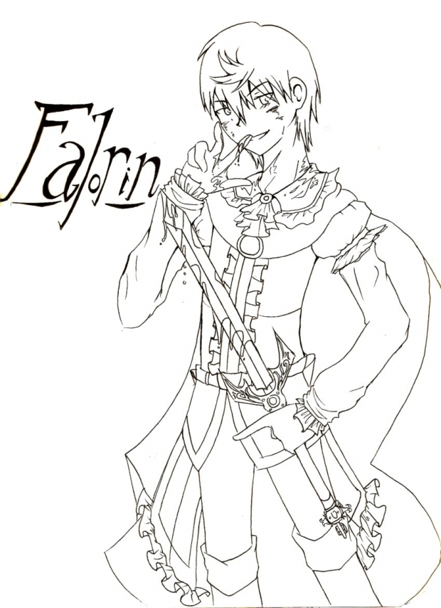 Falorin (Line Art- color me!)