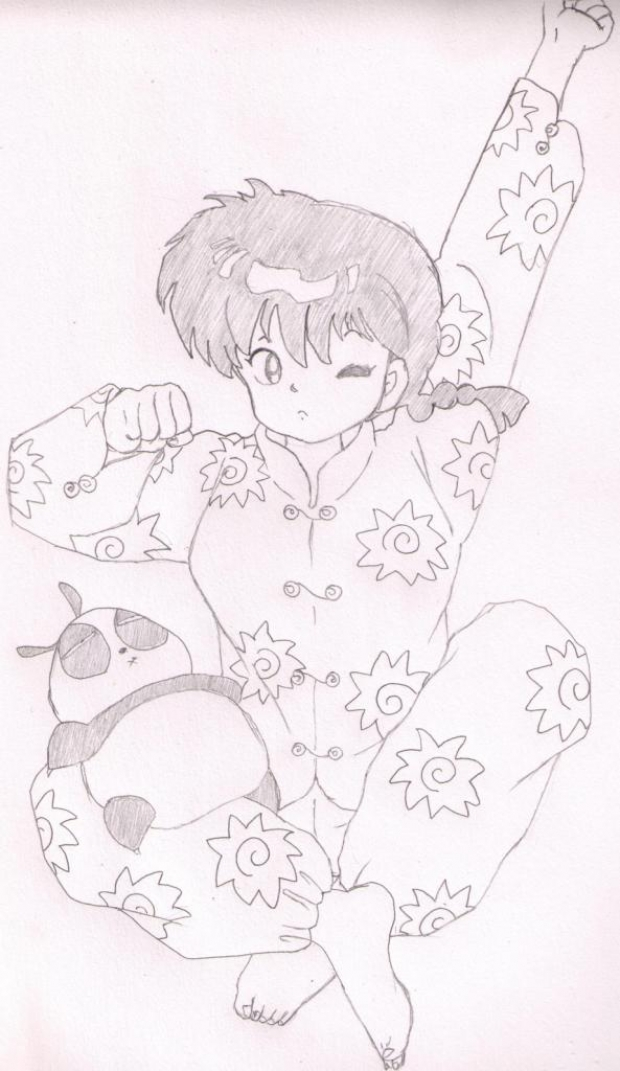 Ranma in pyjama