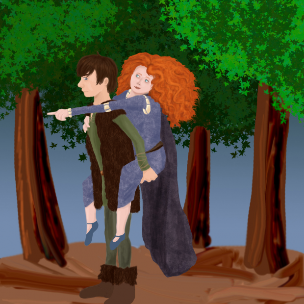 Hiccup and Merida!