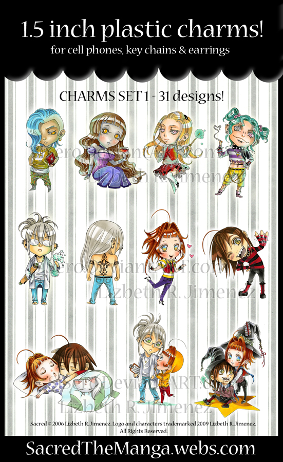 Sacred- 1.5 inch charms
