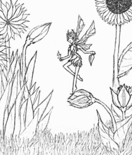 fairy on a flower