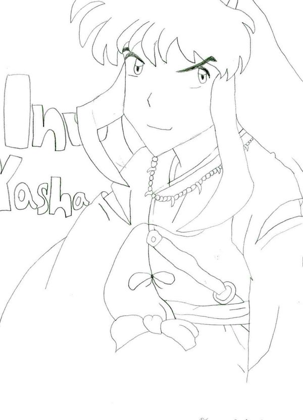 InuYasha-My First Official Fan Art!!!