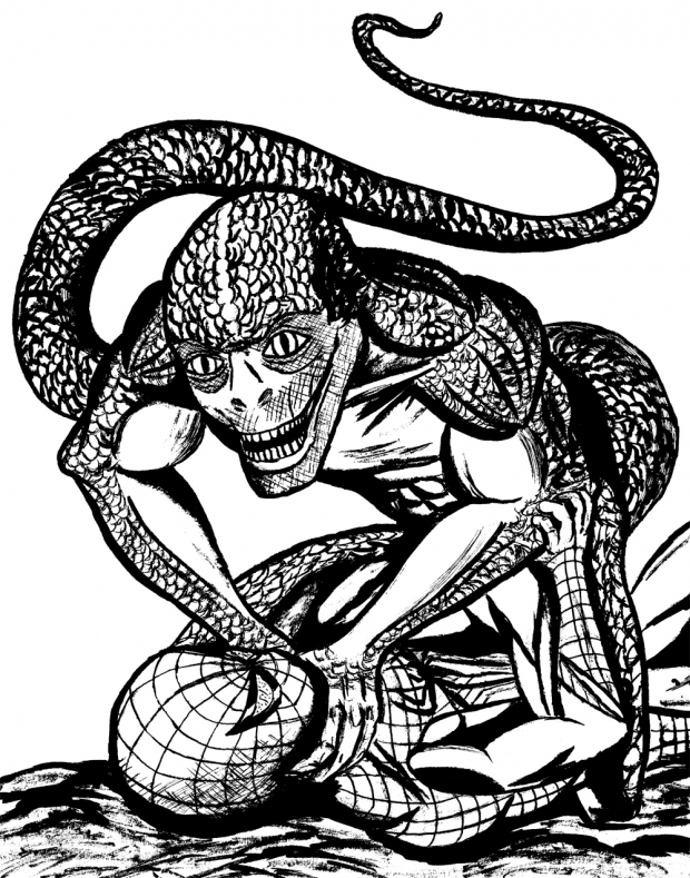 Amazing Spider-man vs Lizard (Movie version) inked