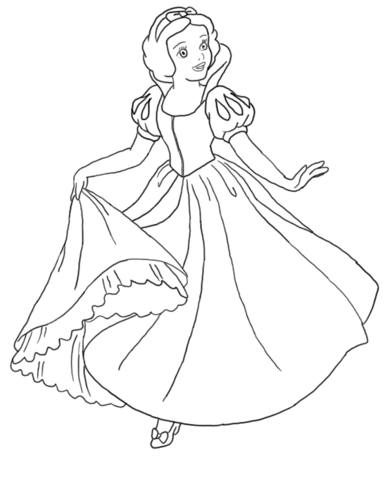 Snow White Line Art~