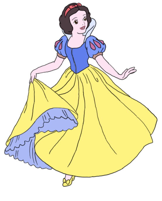 Snow White Line Art~ COLORED