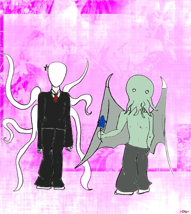 Slenderman And Cthulhu