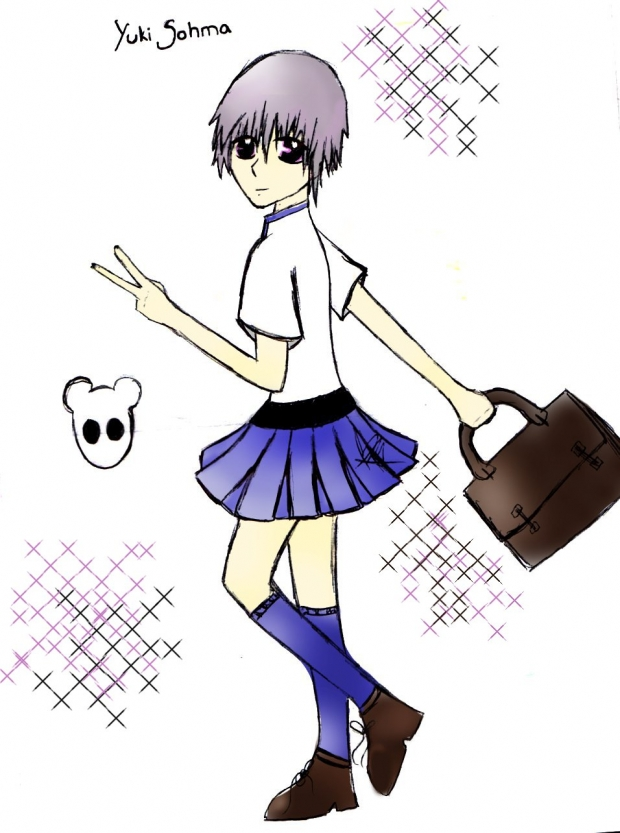 Yuki Sohma in a Skirt^_~