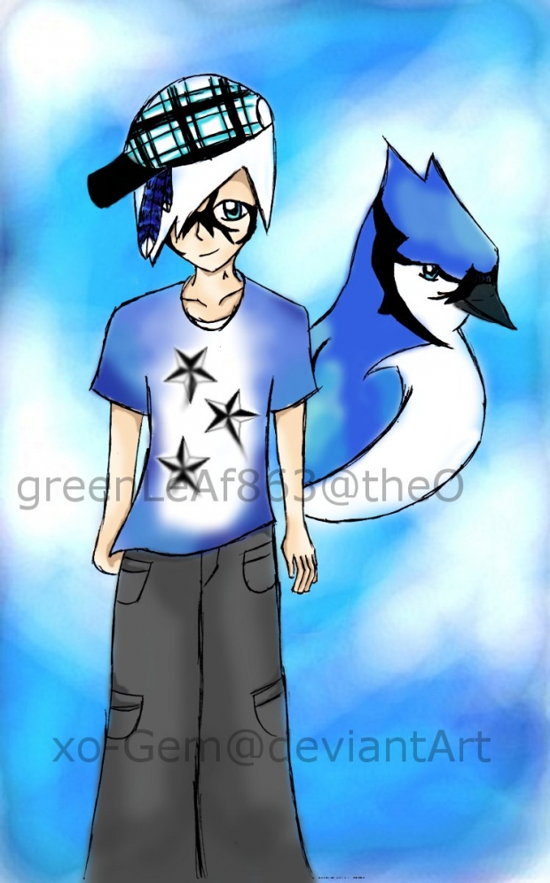 Tamotsu as a Blue Jay