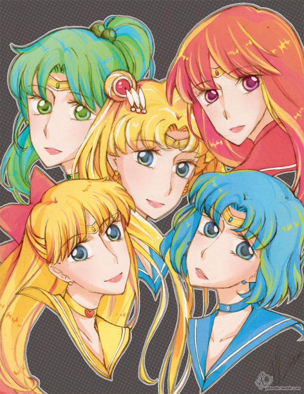 Inner Sailor Scouts Coloured