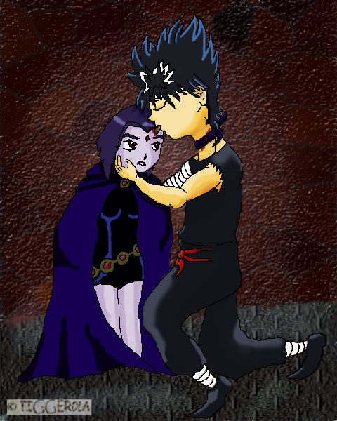 Raven and Hiei lick ~CCDS