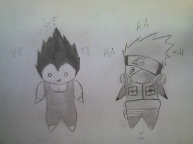 Vegeta and Kakashi Chibi