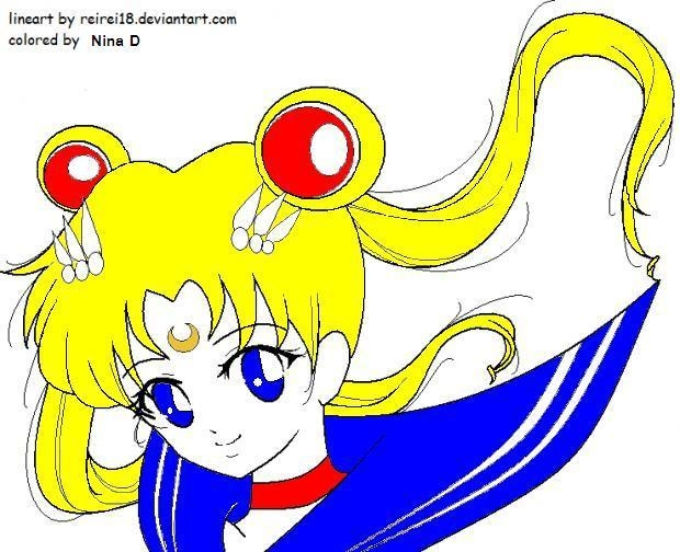 Coloured Sailor Moon