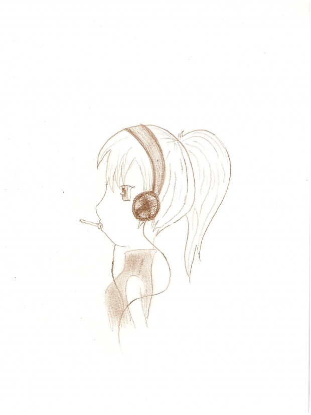 girl with music