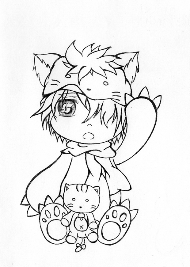 Chibi Kitten Boy