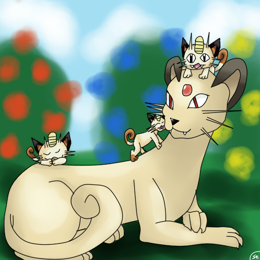Persian and Kitten Meowths