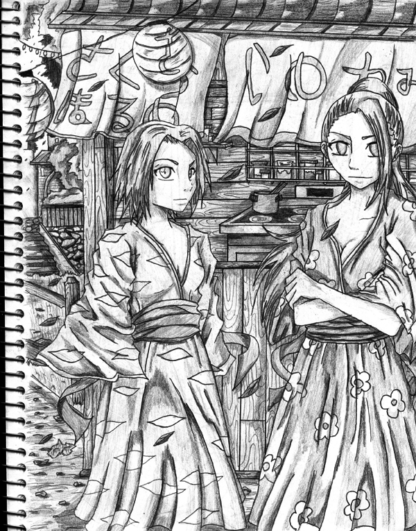 Ino And Sakura Sketch