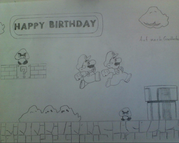 Super Mario Birthday Gift!