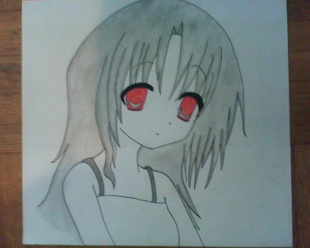 Girl with the Red eyes