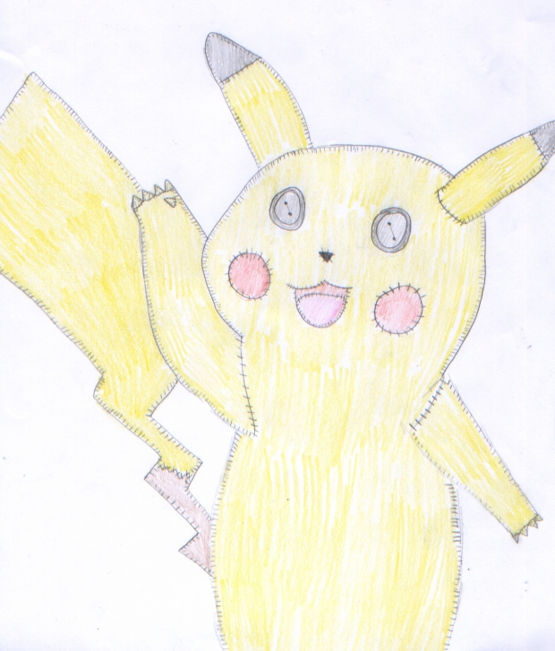 Pikachu plushie drawing prize