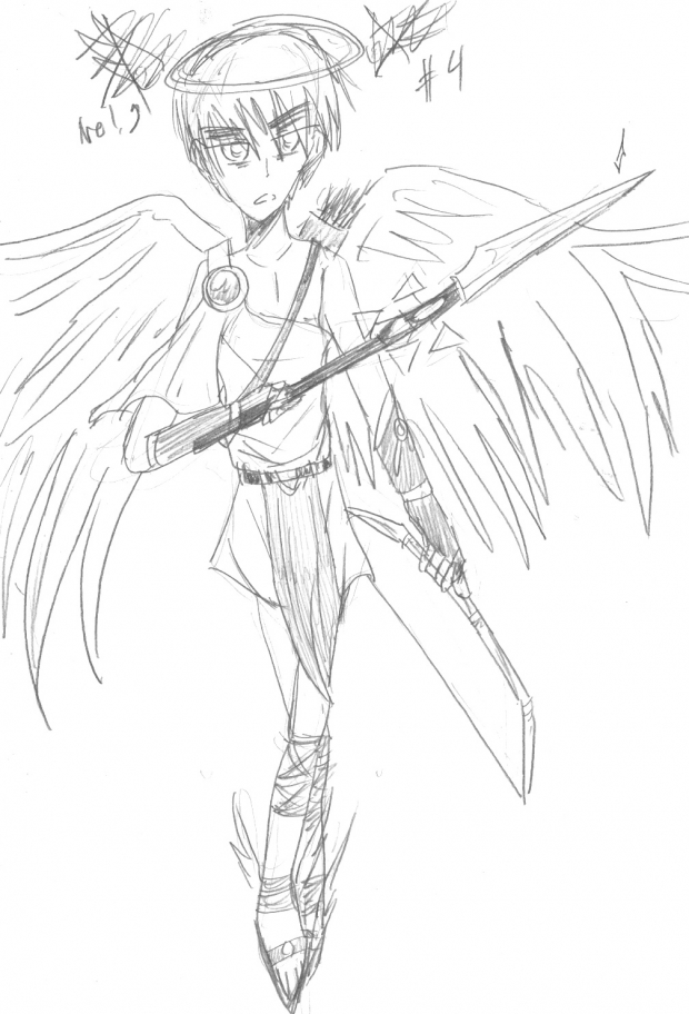 Britannia Angel (Sketch) 2