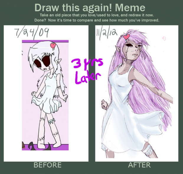 200th Fanart! Before and After meme