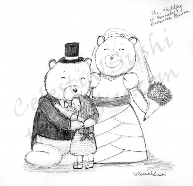 Sketch Request #10 - Teddy Bears and a Little Girl