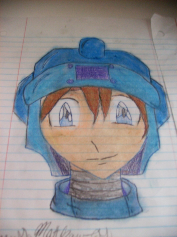 mega man legend (colored)