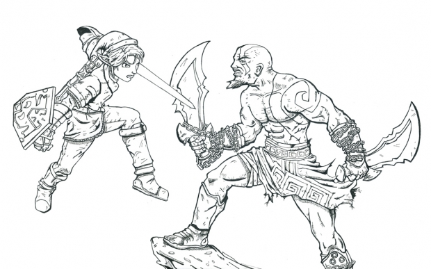 Link Vs Kratos