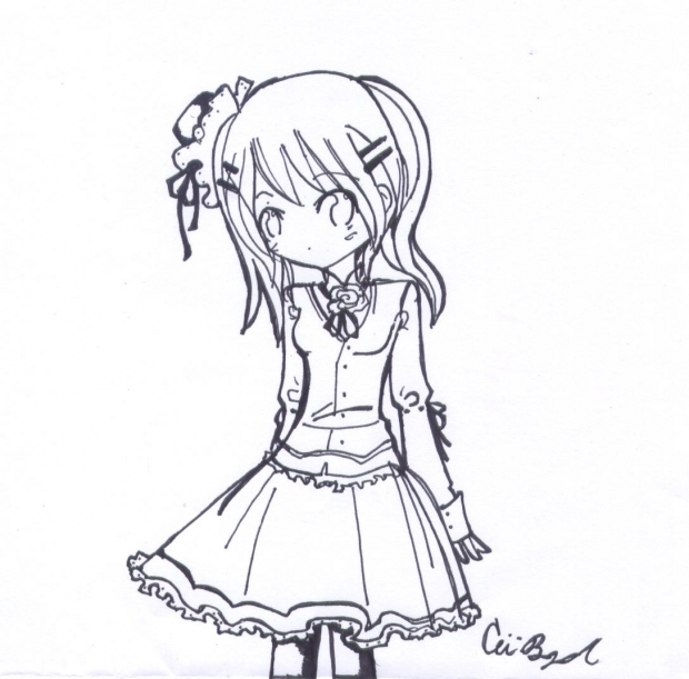 :loli drop: (line art)