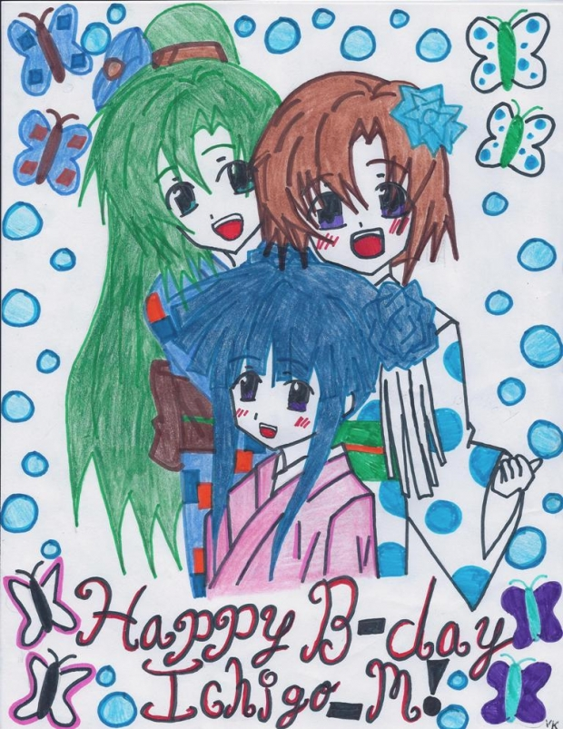 Higurashi Style Celebration: Happy Birthday to Ichigo_M