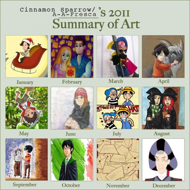 Cinnamon Sparrow's 2011 Art Summary