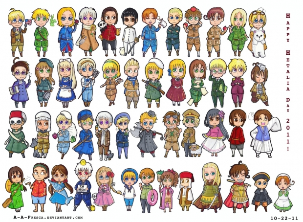 The Whole Cast (Hetalia Day 2011)