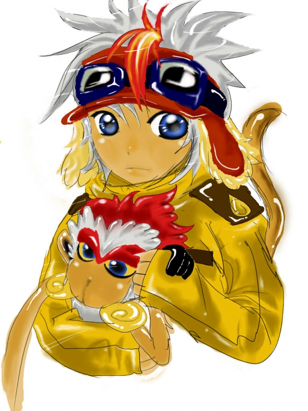 troy the infernape_chibi version