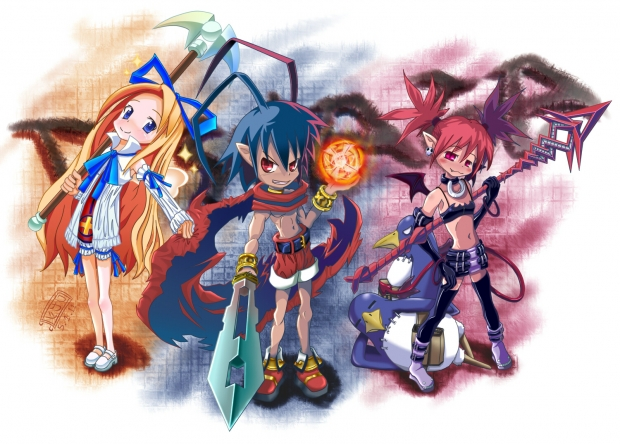 Disgaea Trio and Prinnies