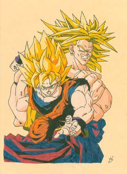 Goku and Brolly