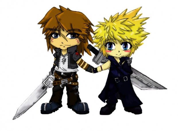 Leon x Cloud chibis
