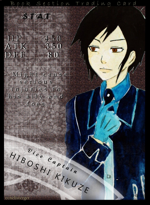 Book Section Trading Card - Hiboshi Kikuze