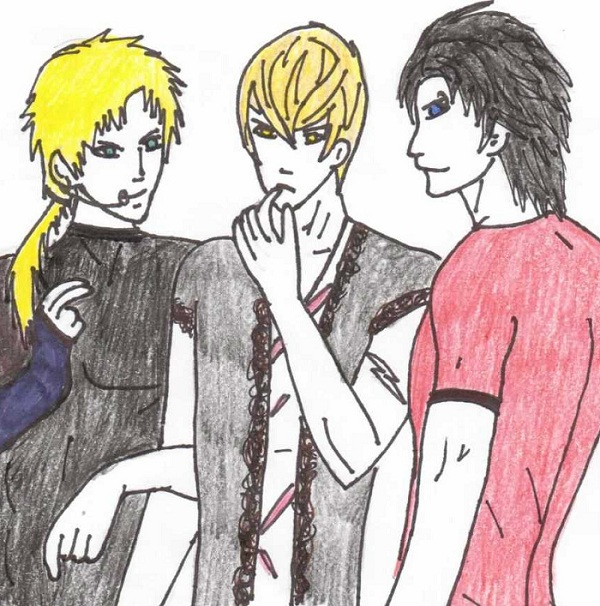 Kin, Luke, and Ryo [OCs]
