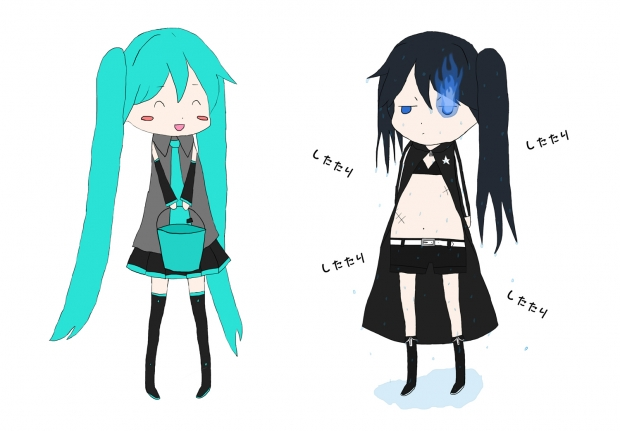 Black�Rock Shooter And Miku ^^