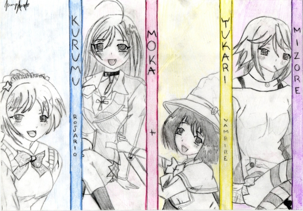 Rosario+Vampire Girls