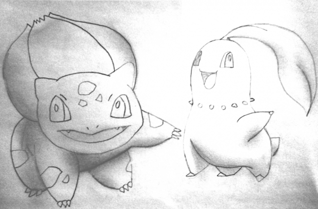 Bulbasaur and Chikorita