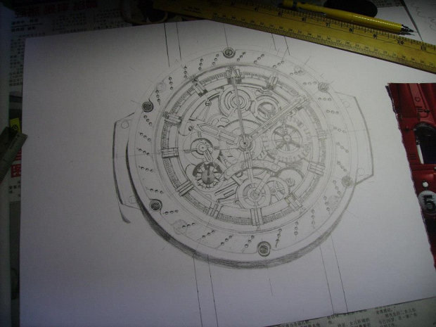 Watch Drawing 3: WIP