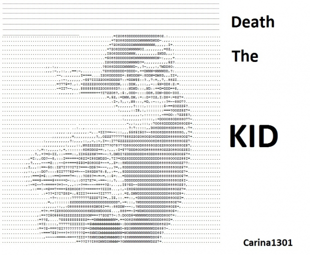 Death THE Kid! made out of text