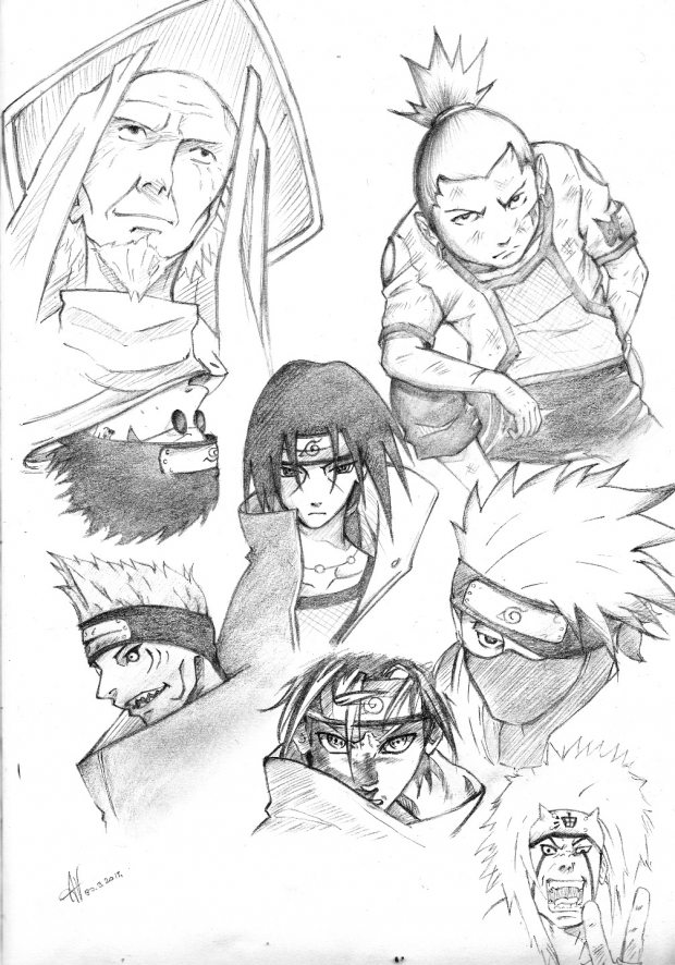 .Naruto sketches without Naruto xD