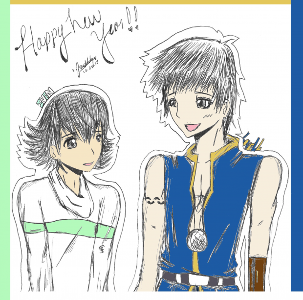[ss fanart 2013 OC's iven and lovell.]