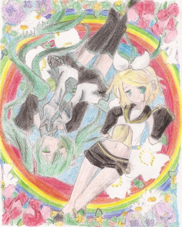 Reverse Rainbow drawing