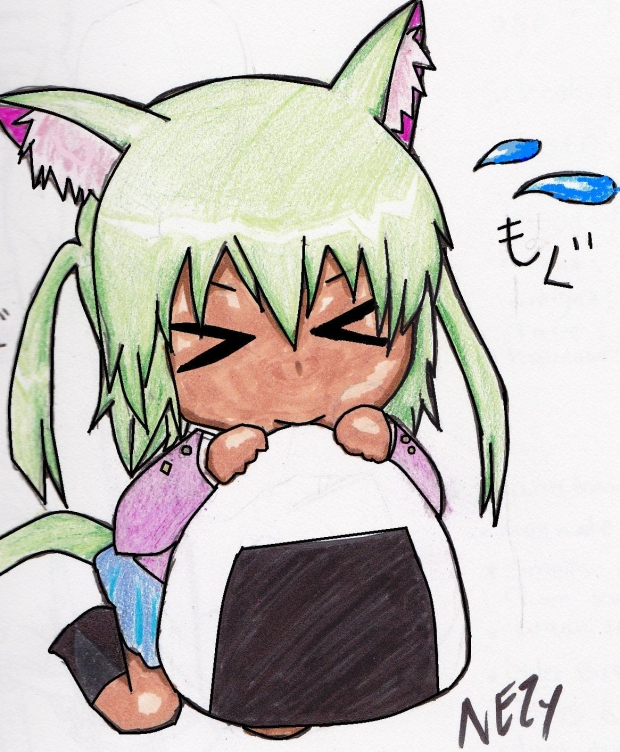 green haired chibi :3