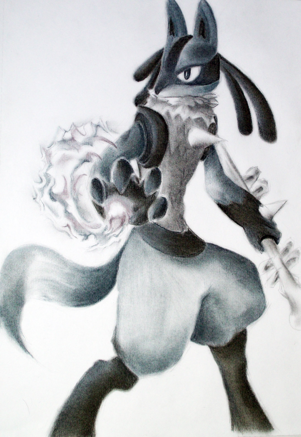 A stray Lucario appeared...In my portfolio